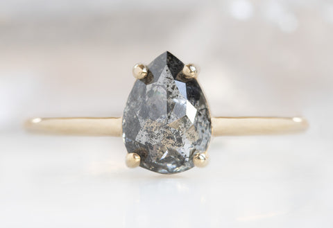 The Bryn Ring with a Salt + Pepper Diamond