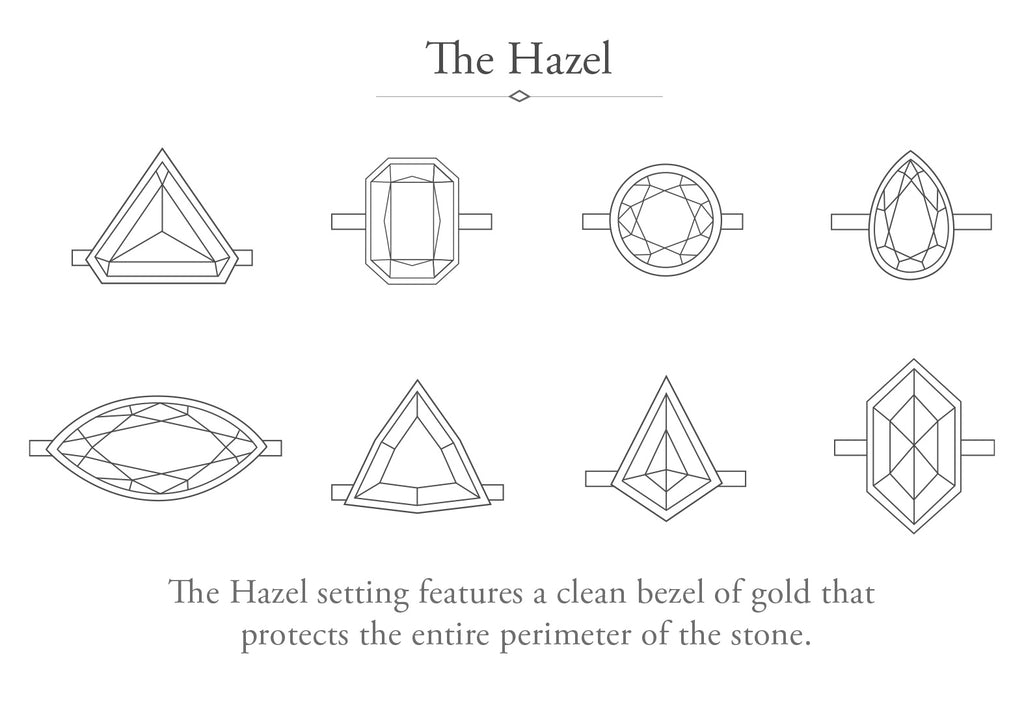 The Hazel Ring with a Kite Diamond