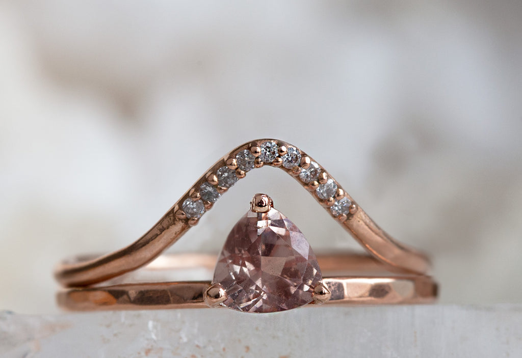 Sunstone Trillion Stacking Ring