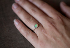 Asymmetrical Opal Ring