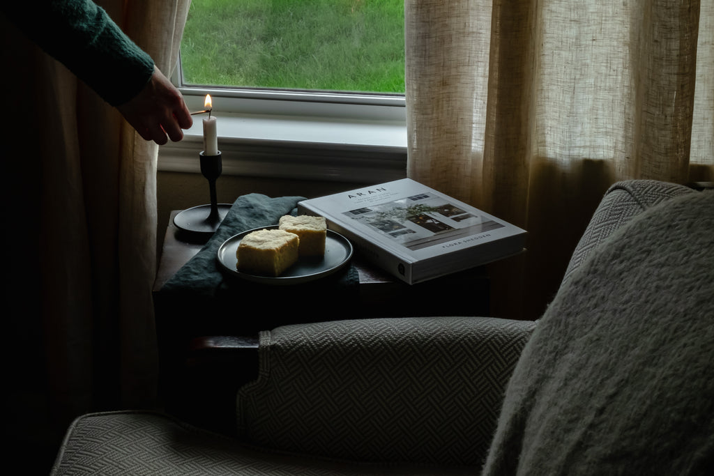 Scottish Shortbread Cookies, Candle Lighting, Peaceful Moment