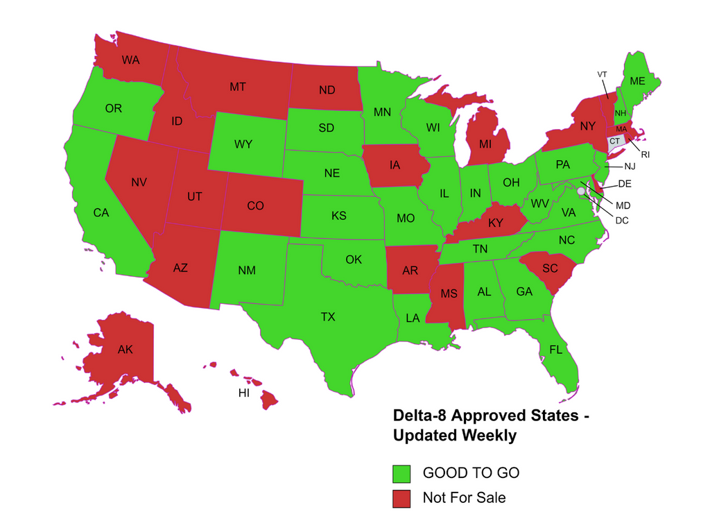 delta-8 thc approved states