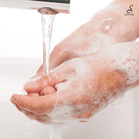 How to wash your hands satvic foods