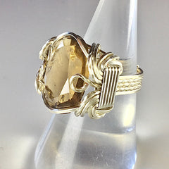 Quartz Wire Wrapped rings