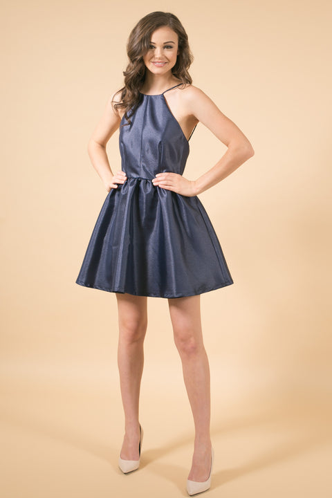 Flirty Flare Navy Dress