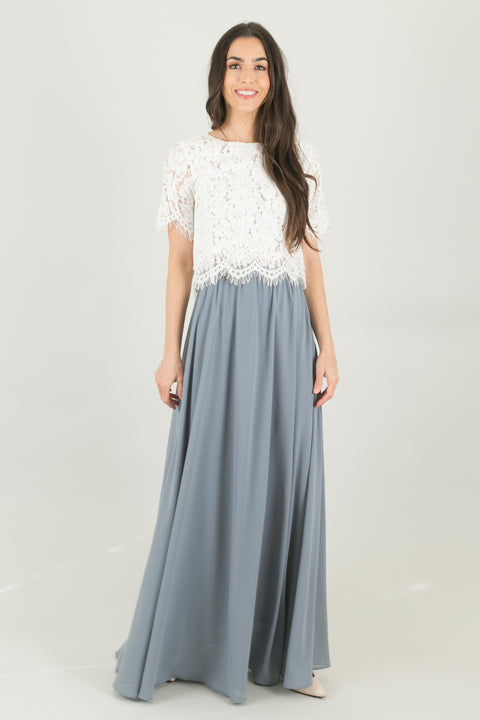 Kelly Grey Full Maxi Skirt