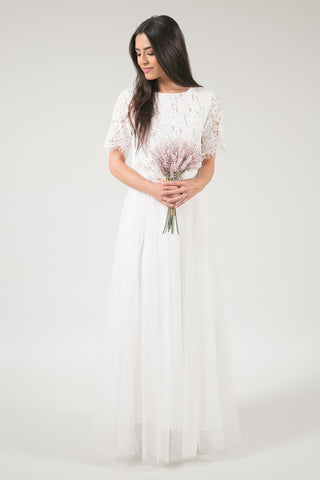 After Dark Maxi Tulle Skirt - White