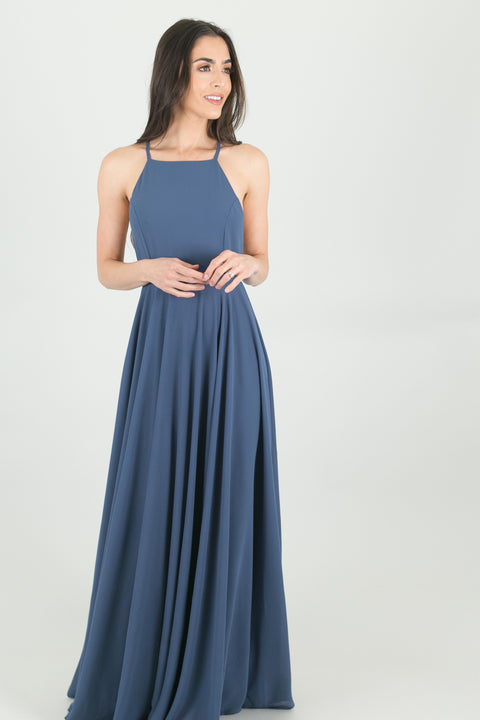 Payton Dark Blue Flowy Maxi Dress