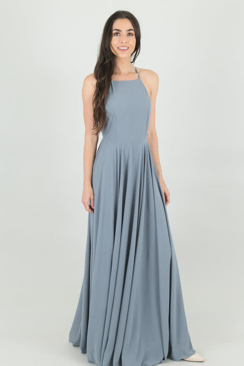 Payton Grey Flowy Maxi Dress