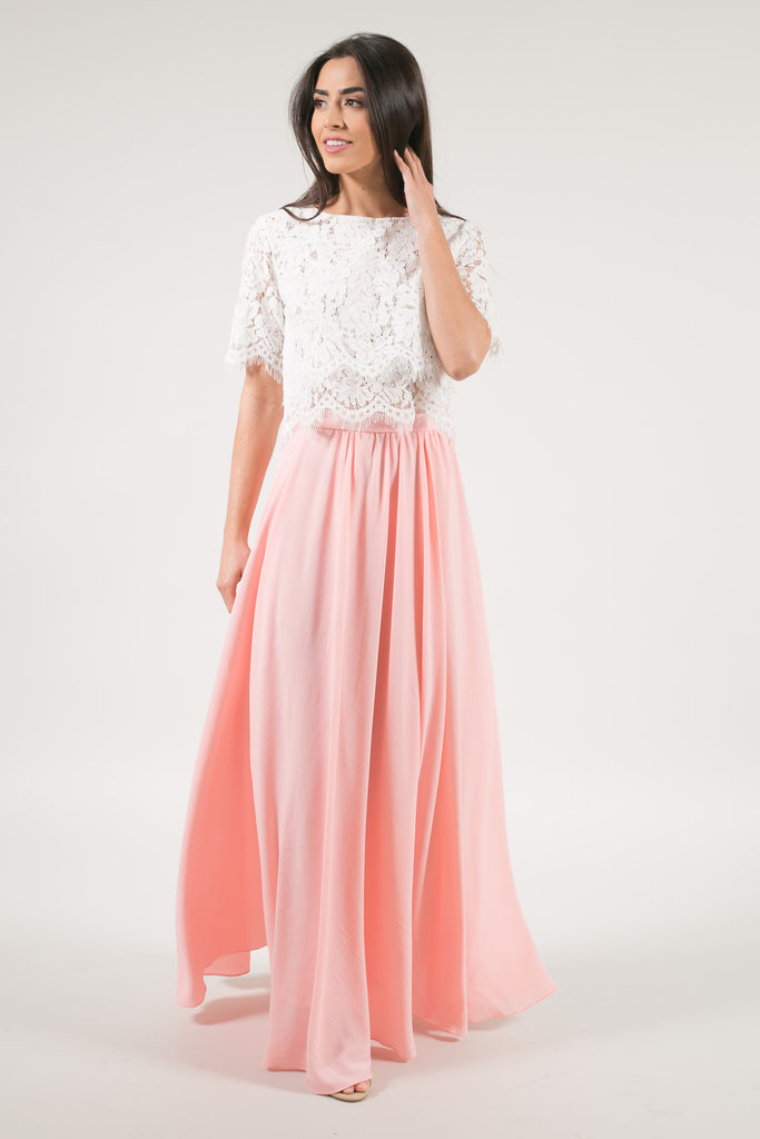 Kelly Peach Blush Full Maxi Skirt