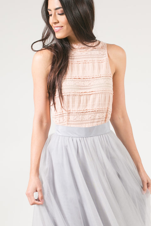 Madeline Blush Bow-back Top