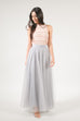 After Dark Maxi Tulle Skirt - Gray