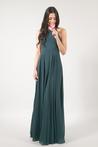 Payton Green Flowy Maxi Dress