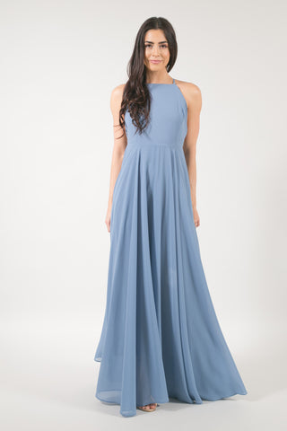 Payton Dusty Blue Flowy Maxi Dress