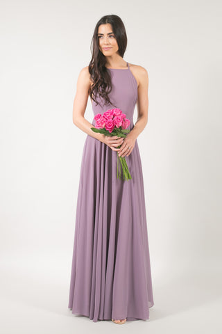Payton Mauve Flowy Maxi Dress
