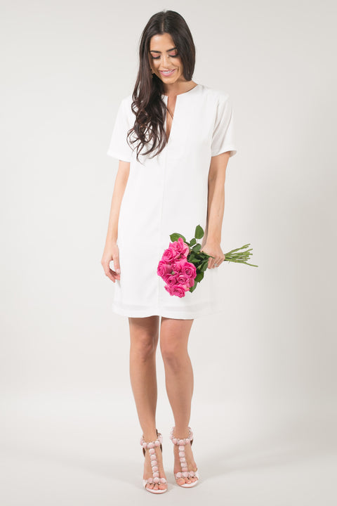 Sample Madeline Ivory Shift Dress