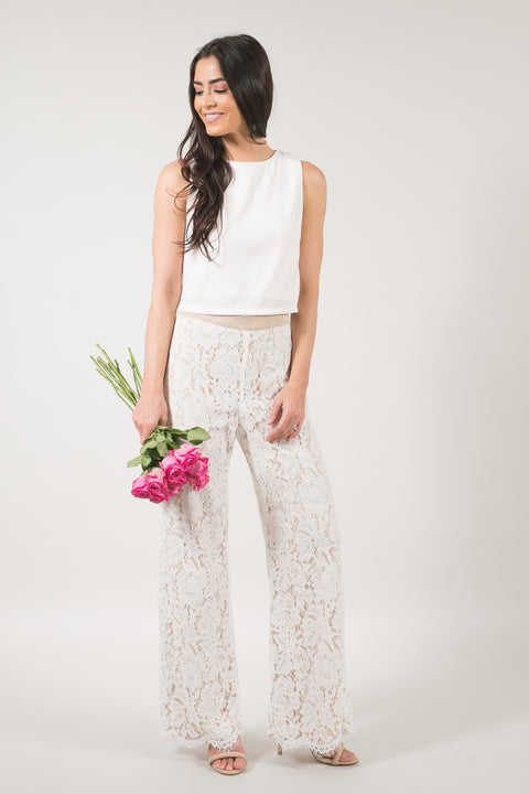 Chic Muse Scallop Lace Pants