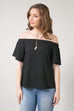 Sample Bella Off Shoulder Top - Black *Final Sale*