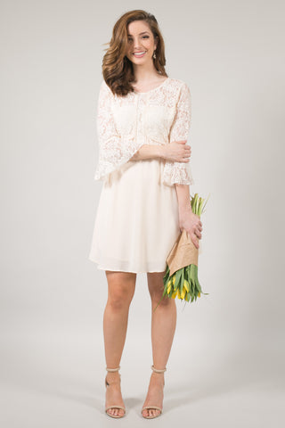 Penelope Ivory Lace Bell Sleeve Dress