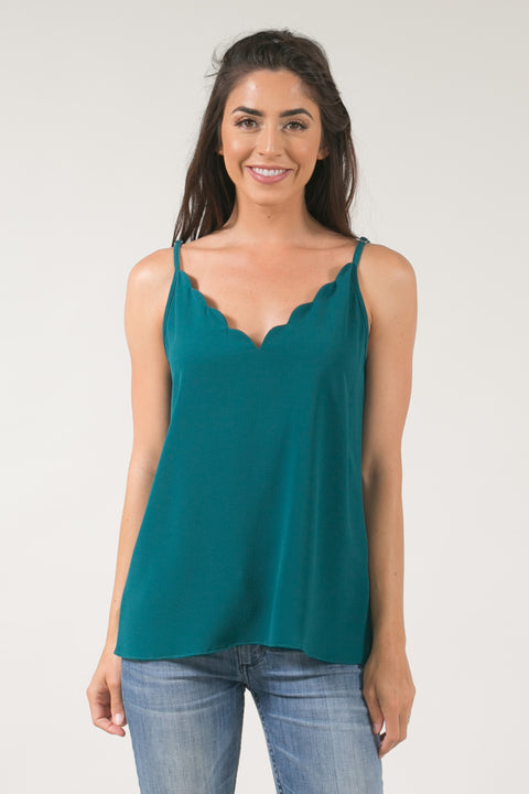 Fiona Green Scallop Cami