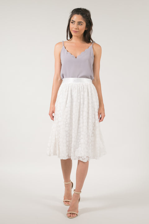 Connect The Dots Lace Skirt - Ivory