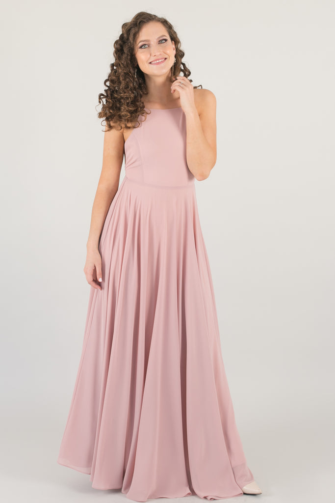 Payton Dusty Millennial Pink Flowy Maxi Dress