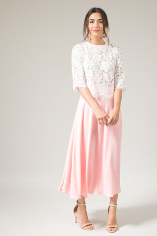 Kelly Peach Blush Full Midi Skirt