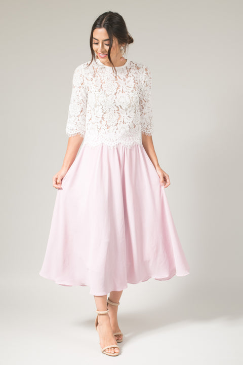 Kelly Lilac Full Midi Skirt