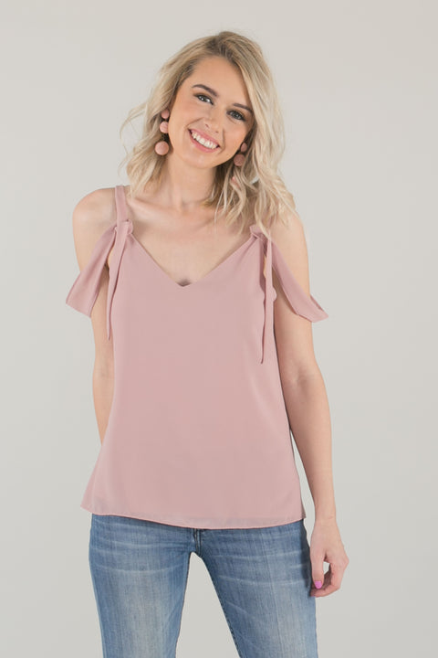 Lani Draped Flowy Cami Top - Pink