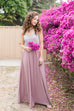 Kelly Chiffon Mauve Full Maxi Skirt