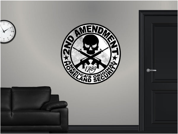 Second 2nd Amendment logo Wall Decal!