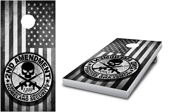 2nd Amendment Cornhole decal wrap set!
