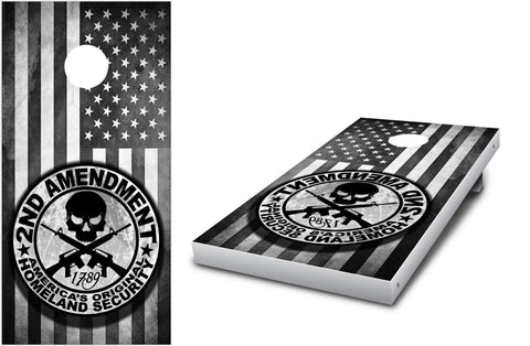 2nd Amendment Cornhole decal wrap set! - Stickit Graphix