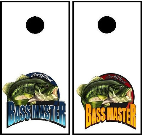 Bass Master Cornhole Decal Set!