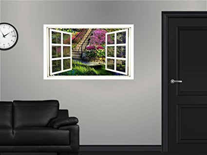 WindowScape Amazing Flower Garden #1 Wall Decal!