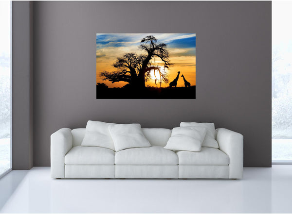 MiniMural: African Savannah Sunset Wall Decal!