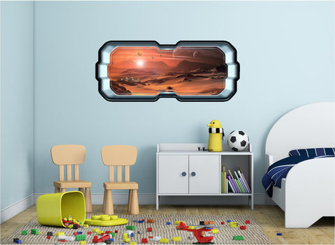 SpaceScape Alien Outpost #1 Wall Decal!