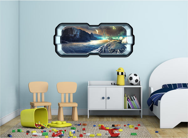 SpaceScape Alien Lunar Outpost Wall Decal!