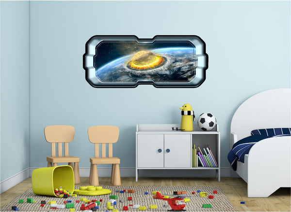 SpaceScape Armageddon Asteroid Impact Wall Decal!