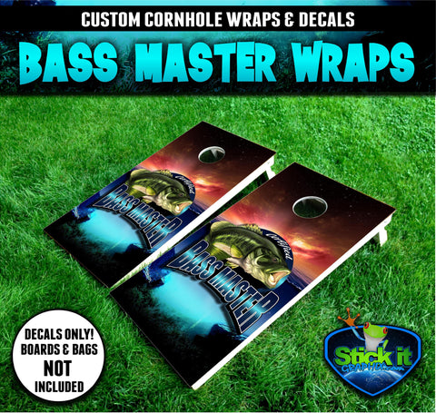 BASS MASTER #2 Cornhole Wrap Set!