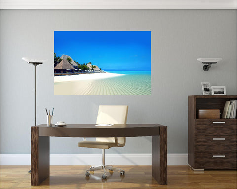 MiniMural: Beach Front Resort On Wall Wall Decal!