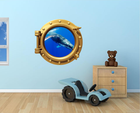 Portscape Blue Whale #2 Wall Decal!