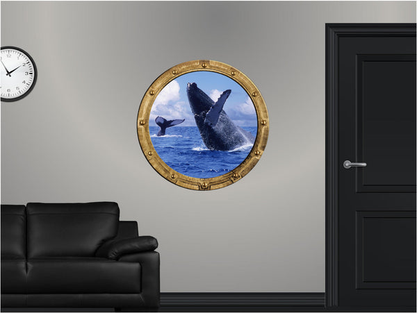 Portscape Blue Whale Jump Wall Decal!