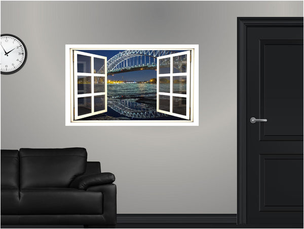 WindowScape Bridge #4 Wall Decal!