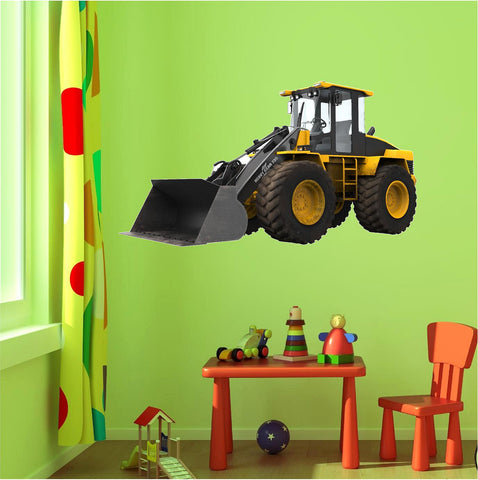 Bull Dozer 1 Wall Decal - Stickit Graphix