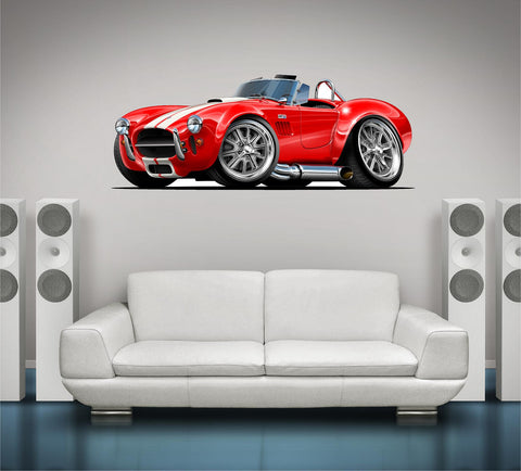 57-65 AC Shelby Cobra 427 Wall Graphic! - Stickit Graphix