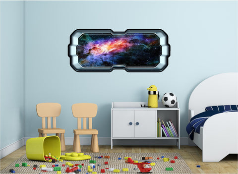 SpaceScape Colorful Nebula & Stars Wall Decal!
