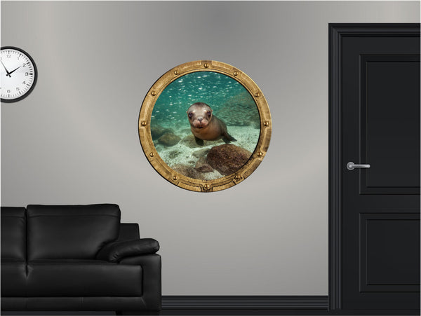 Portscape Curious Seal Wall Decal!