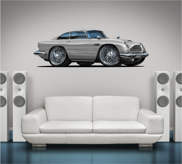 Aston Martin 007 James Bond 1963 DB5 Skyfall Classic Car Wall Graphic