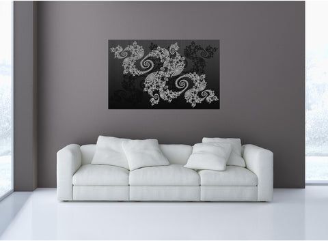 MiniMural: Decorative Floral Spiral Pattern Wall Decal!